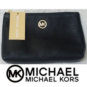 🍃⚘Michael Kors⚘🍃Fulton Travel Leather Cos Bag